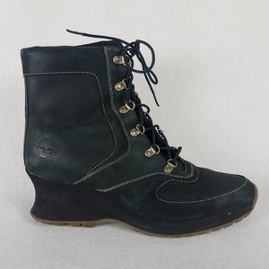 TIMBERLAND Womens Size 9.5 Boots Wedge Lace-Up